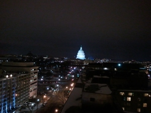 US Capitol at Night from NAR Building