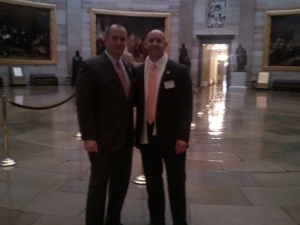 Chris Nichols and Kenny Parcell in the US Capitol Dome Room