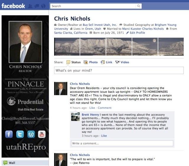Chris Nichols Facebook Page