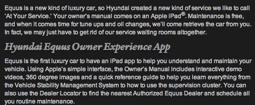 Hyundai Equus Details