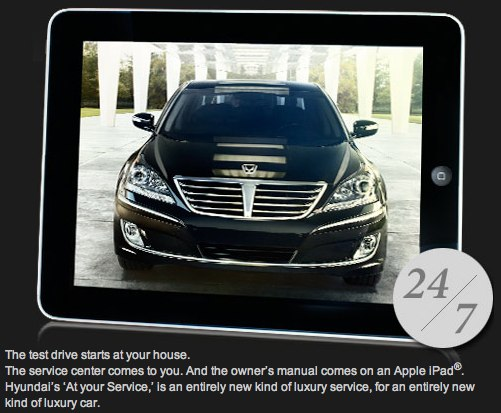 ipad 1 box. Hyundai Equus iPad 1