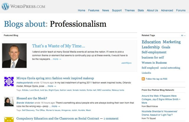 Professionalism — Blogs, Pictures, and more on WordPress