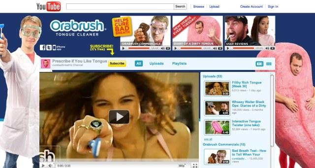 Orabrush Cure Bad Breath YouTube Channel
