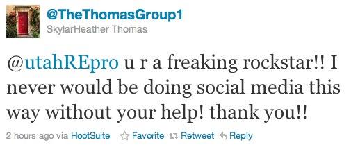 Twitter _ @SkylarHeather Thomas_ @utahREpro u r a freaking ...