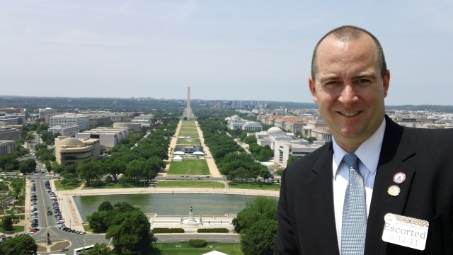 Chris Nichols at the top of Capitol Dome