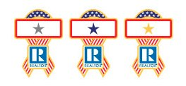 REALTOR® Blue, Silver & Gold Star Pins