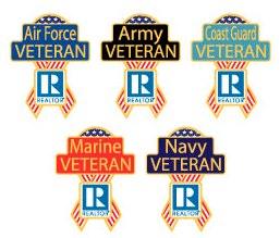 REALTOR® Military Veteran Pins
