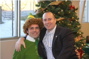 Chris Nichols with Buddy the Elf