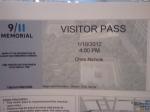 9/11 Memorial Visitor Pass