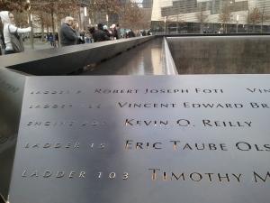 9/11 Memorial Names Parapet