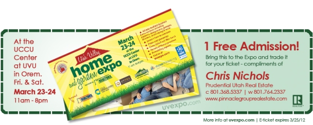 Utah Valley Home Expo Ticket